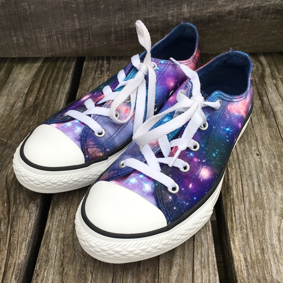 afa43b240568a2 Converse Shoes - 🆕List! Satin Galaxy Print Converse! EUC!
